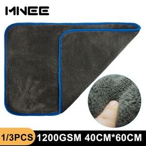 Image 1 - Detallado de coches toalla 40*60CM microfibra coche herramienta de limpieza de 1200GSM de secado de espesar de lavado de coche de trapo de cocina casa