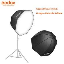 Godox 80 cm/31.5in licht Softbox Durchmesser Octagon Brolly Regenschirm Fotografie zubehör weiche box Reflektor für Video Studio