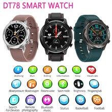 Reloj inteligente DT78 para hombre y mujer, pulsera inteligente deportiva con control del ritmo cardíaco, dispositivos portátiles