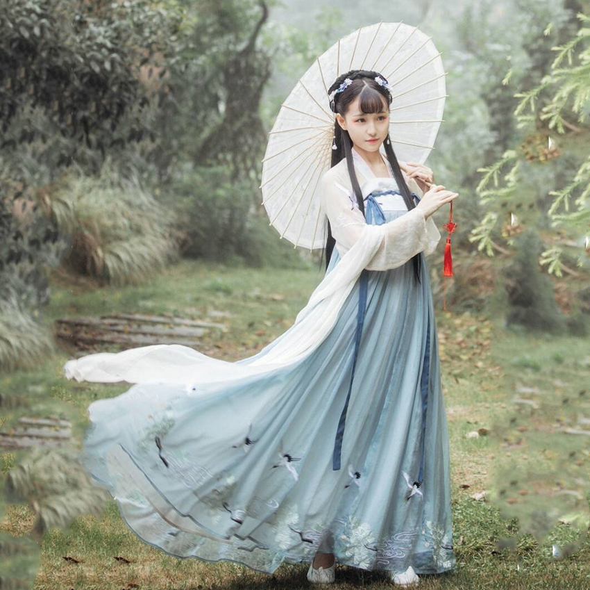 Fairy Cosplay Hanfu Ancient Chinese Costume Dynasty Tang Suit Folk Dress for <font><b>Women</b></font> Princess <font><b>Festival</b></font> <font><b>Outfits</b></font> Dance Costume image