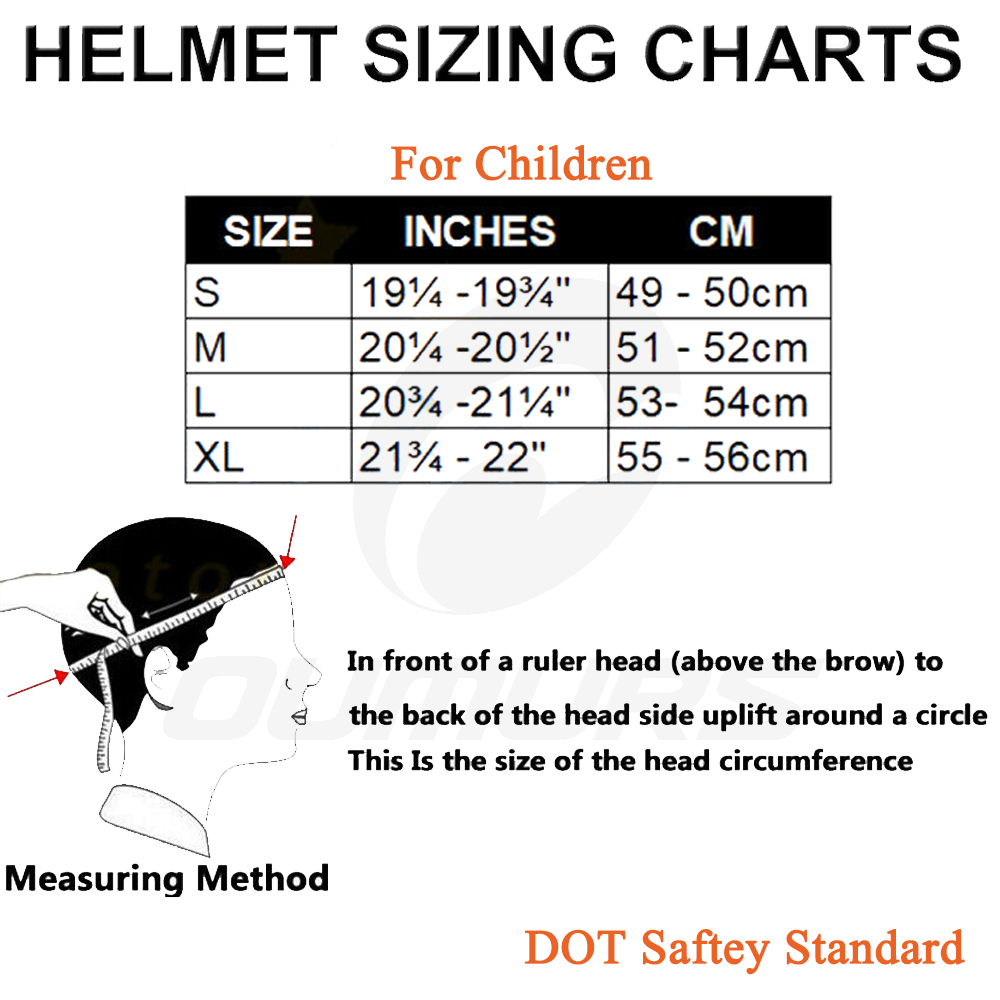 OUMURS DOT Cool Web Style Motorcycle Children Helmet 2
