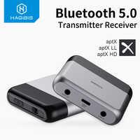 Hagibis Bluetooth 5,0 Sender Empfänger AptX LL HD für TV Kopfhörer Optische 3,5mm AUX Audio Adapter für PS4 Nintendo schalter