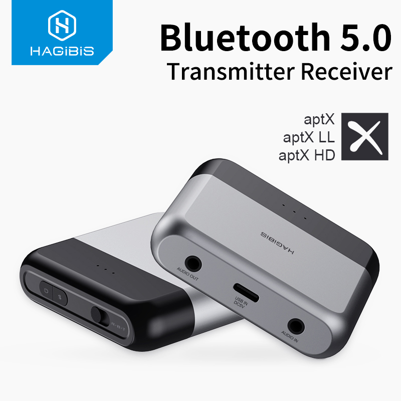 Hagibis Bluetooth 5.0 Transmitter Receiver AptX LL HD For TV Headphone Optical 3.5mm AUX Audio Adapter For PS4 Nintendo Switch