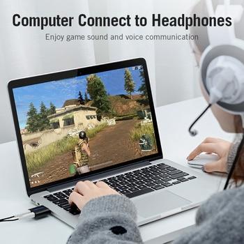 Vention USB Sound Card USB Audio Interface headphone Adapter Soundcard for Mic Speaker Laptop PS4 Computer External Sound Card 4