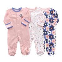 Mamelucos de bebé 3 uds flor bebé pijamas para niña bebé, ropa de niño recién nacido, bebé niña Body para bebé mono de algodón de la ropa interior