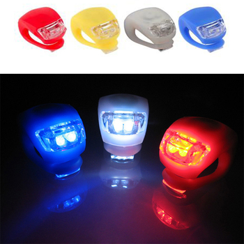 1 Bicycle Mountain Bike Light Silicone LED Headlight Front Wheel Light Waterproof Bicycle Light with Battery Bicycle Accessories