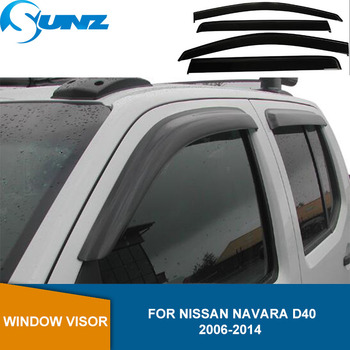 Side Window Deflectors For Nissan Navara D40 2006 2007 2008 2009 2010 2011 2012 2013 2014 Acrylic Weather Shield Rain Visor SUNZ roof rack boxes side rails bars luggage carrier a set for nissan qashqai 2008 2014 2009 2010 2011 2012 2013