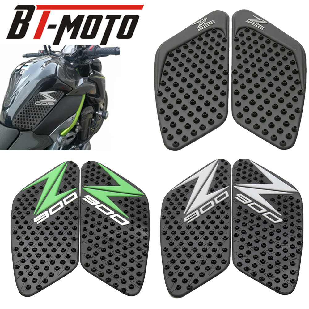 Motorcycle Tank Traction Pad Side Gas Knee Grip Protector Anti Slip Sticker 3M Black Cover For Kawasaki Z900 2017 Tank Pad