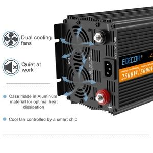 Image 3 - UPS מהפך טהור סינוס גל 2500W DC 12v ל ac 220v LCD תצוגה מהפך + מטען & UPS, שקט ומהיר תשלום אספקת חשמל