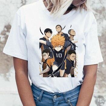 Japanese anime T-shirt haikyuu shirt Harajuku Leisure Short sleeve t shirt women 2020 white T-shirt Female Tops Women T shirt t shirt trussardi t shirt