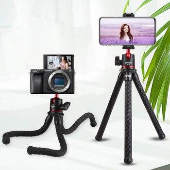 Ulanzi MT-11 Flexible Octopus Tripod for DSLR Smartphone 2 in 1 Tripod Extend 1/4'' Screw for Magic Arm Led Video Light 1