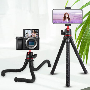 Ulanzi MT-11 Flexible Octopus Tripod for DSLR Smartphone 2 in 1 Tripod Extend 1/4'' Screw for Magic Arm Led Video Light ulanzi mt 11 travel flexible octopus tripod for smartphone dslr slr vlog tripod for camera iphone huawei portable 2 in 1 tripod