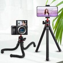 Ulanzi MT 11 esnek ahtapot Tripod DSLR Smartphone için 2 in 1 Tripod uzatın 1/4 vida için sihirli kol Led Video ışığı
