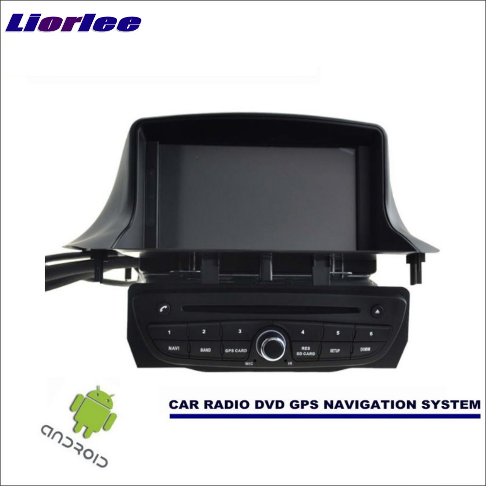 Liorlee Car Android Navigation System For Renault <font><b>Megane</b></font> <font><b>3</b></font> III 2008-2016 Radio Stereo CD DVD Player <font><b>GPS</b></font> Navi BT HD Multimedia image