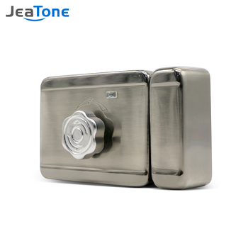 цена на Jeatone Electronic Door Lock for Video Intercom Video Door Phone Wired Remote Unlock with Smart Card Home Security System Kit