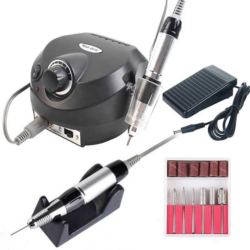 35000/20000 RPM Electric Nail Drill Machine Set For Manicure Pedicure Gel Remover Strong Nail Drill File Left Hand Polishing Kit
