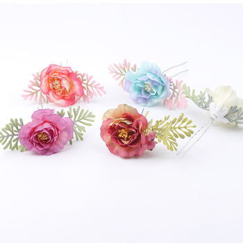 Women Rose Flower Retro Brides Hair Pins Hair Comb Wedding jewelry Accessories Red Rose Hairpin Hair Jewelry haimeikang women rose flower retro combs brides hair pins hair comb wedding jewelry accessories red rose hairpin hair jewelry