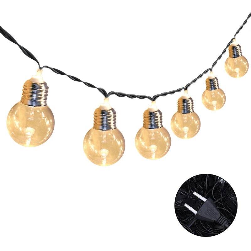 Binval 20 Led Bulbs Holiday Lighting Globe Fairy Lights Bulbs EU Plug Home Garden Outdoor Wedding Party Lights Decoration