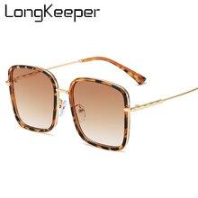 Fashion Oversized Square Sunglasses Women 2020 Brand Designe