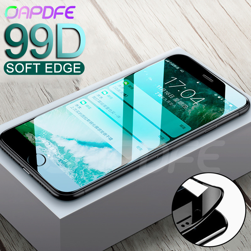 New 99D Full Cover Protective Glass For IPhone 8 7 6 6s Plus Tempered Screen Protector Glass For IPhone X XR XS 11 Pro Max Film