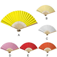 Traditional Chinese Fans Hand Held Fans Silk Bamboo Folding Fans Handheld Folded Fan for Church Wedding Hand Holding Fans Decor(China)