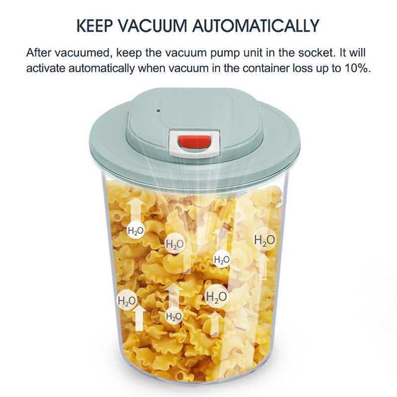 LAIMENG automatyczne odkurzanie uszczelnienie pojemniki do przechowywania żywności zestaw hermetyczne pojemniki próżniowe z pompą próżniową i worki wentylowe S271