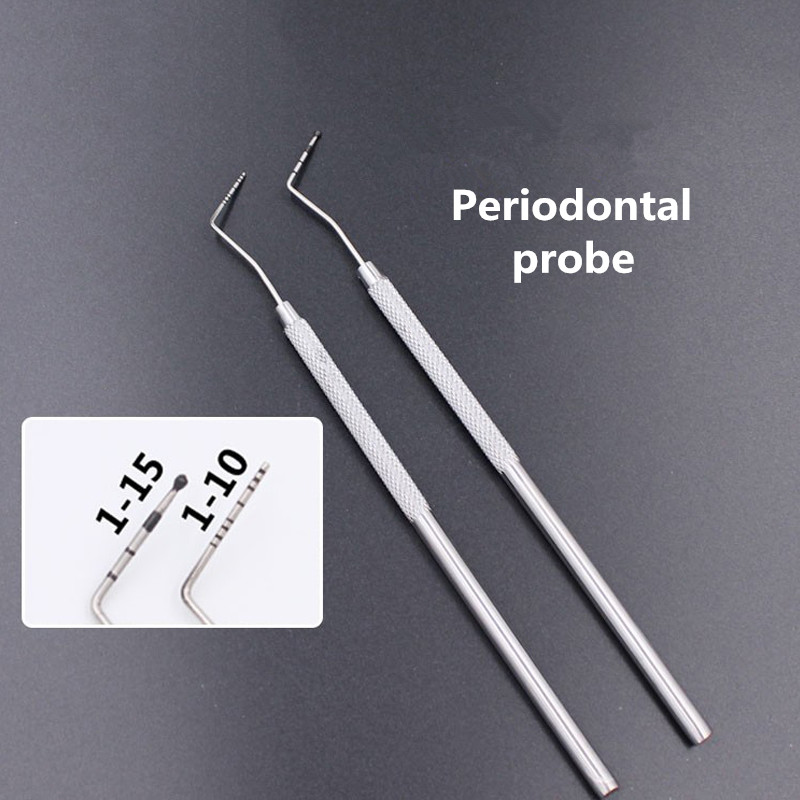 1 Piece Dental Stainless Steel Periodontal Probe With Scaler Explorer Instrument Tool Endodontic Dentist Tools Dental Lab