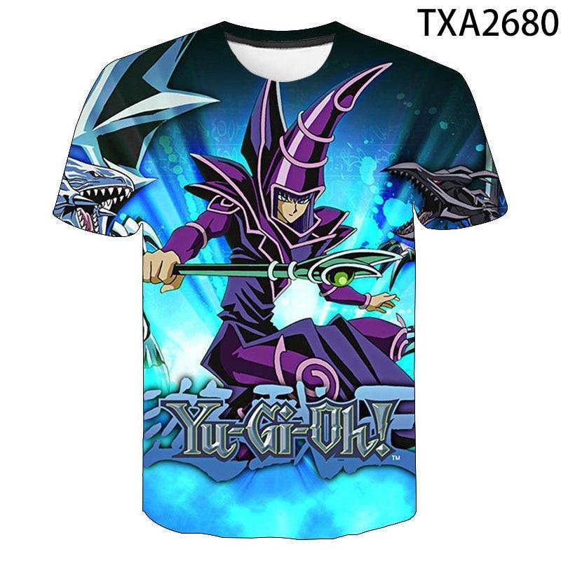 Kid//Youth Yu-GI-Oh T-Shirts 3D Long Sleeve Tees for Girls Boys