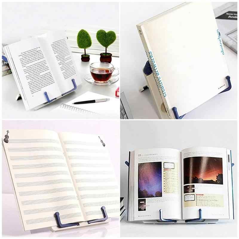 Soporte de lectura portátil libros documento estante de receta plegable libro de cocina Tablet titular organizador estante de descanso Oficina suministros escolares
