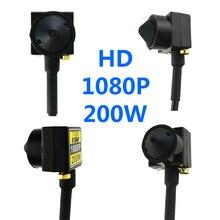 Minicâmera 2mp hd 1080p ahd, pequena câmera com lente de áudio 3.7mm