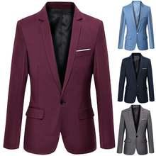 Мужские деловые блейзеры весна осень деловой стиль мужское пальто