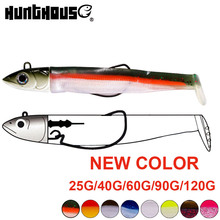 Hunthouse  black minnow 25g 40g 60g 90g 120g easy shiner fishing lure soft lead jig bait bass pike leurre souple