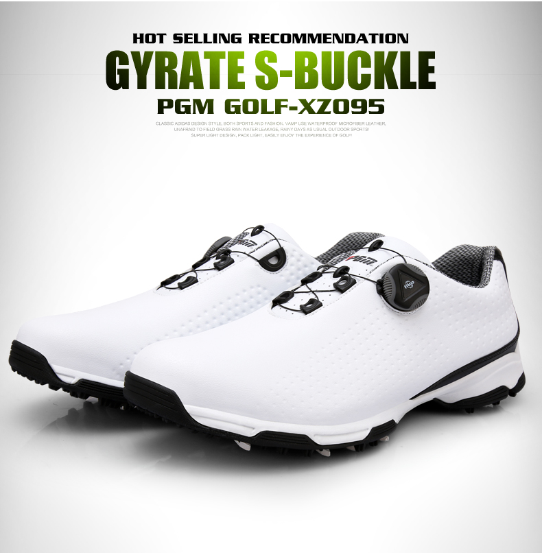 Pgm Golf Shoes Men Waterproof Sports Shoes Knobs Buckle Shoes Mesh Lining Breathable Slip Resistant Sneakers For Male Outdoor 5