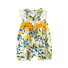 2019 Fashion Cute Toddler Kids Baby Girl Floral Ruffle Romper Flower Print Summe
