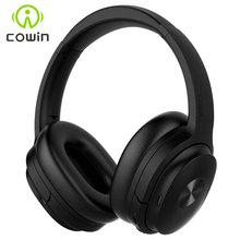 Cowin SE7 نشط إلغاء الضوضاء سماعة لاسلكية تعمل بالبلوتوث سماعات طوي الإفراط في الأذن المحمولة سماعة للهواتف الموسيقى apt x