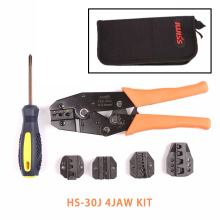 HS-30J 4JAW Multifunction ratchet Crimping pliers Kits crimpers Wire Stripper Cable Cutters electrical crimping set clamp tool