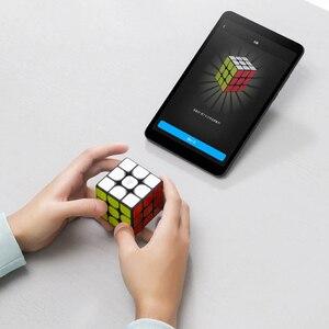 Image 2 - Nowa inteligentna kostka Xiaomi Mijia 3x3x3 6 czujnik osi kolor kwadratowa magiczna kostka Puzzle edukacja naukowa praca z aplikacją Mijia XMMF01JQD