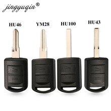 Jingyuqin 2 botões remoto caso chave do carro escudo para opel vauxhall corsa c meriva astra h j g d combo chaves de automóvel fob micro interruptor