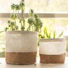 Cover Flower-Pot Waterproof Desk-Organizer Garden-Bin Home-Decor Nice for INS Multifunctional