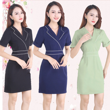 Beautician work clothes female summer thin skin management set physiotherapist salon working temperament