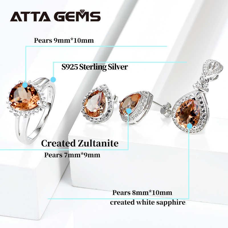 Diaspore Sterling Silber Jewerly Sets für Frauen Hochzeit Engagement Jahrestag 9,5 Karat Erstellt Zultanite S925 Sets Design