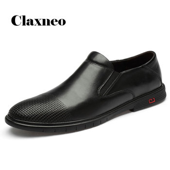 Man Formal Shoes Slip on Genuine Leather Men's Shoe Checkered Design Wedding Footwear Loafers Oxfords Black 2020 New Arrival 2016 new arrival top quality men s slip on basic oxfords real cowhide leather formal wedding dress shoes men sapato masculino 46