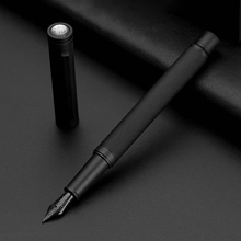 Luxury Brand Fountain Pens 0.5mm Black F Nib Converter Pen Steel Ink Pens Simple Office Business Signing Pen Writing Pens