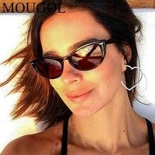 MOUGOL Retro Luxury Cat Eye Sunglasses Women Brand Designer Sexy Lady Vintage Rivet Frame Sun Glasses For Oculos de sol