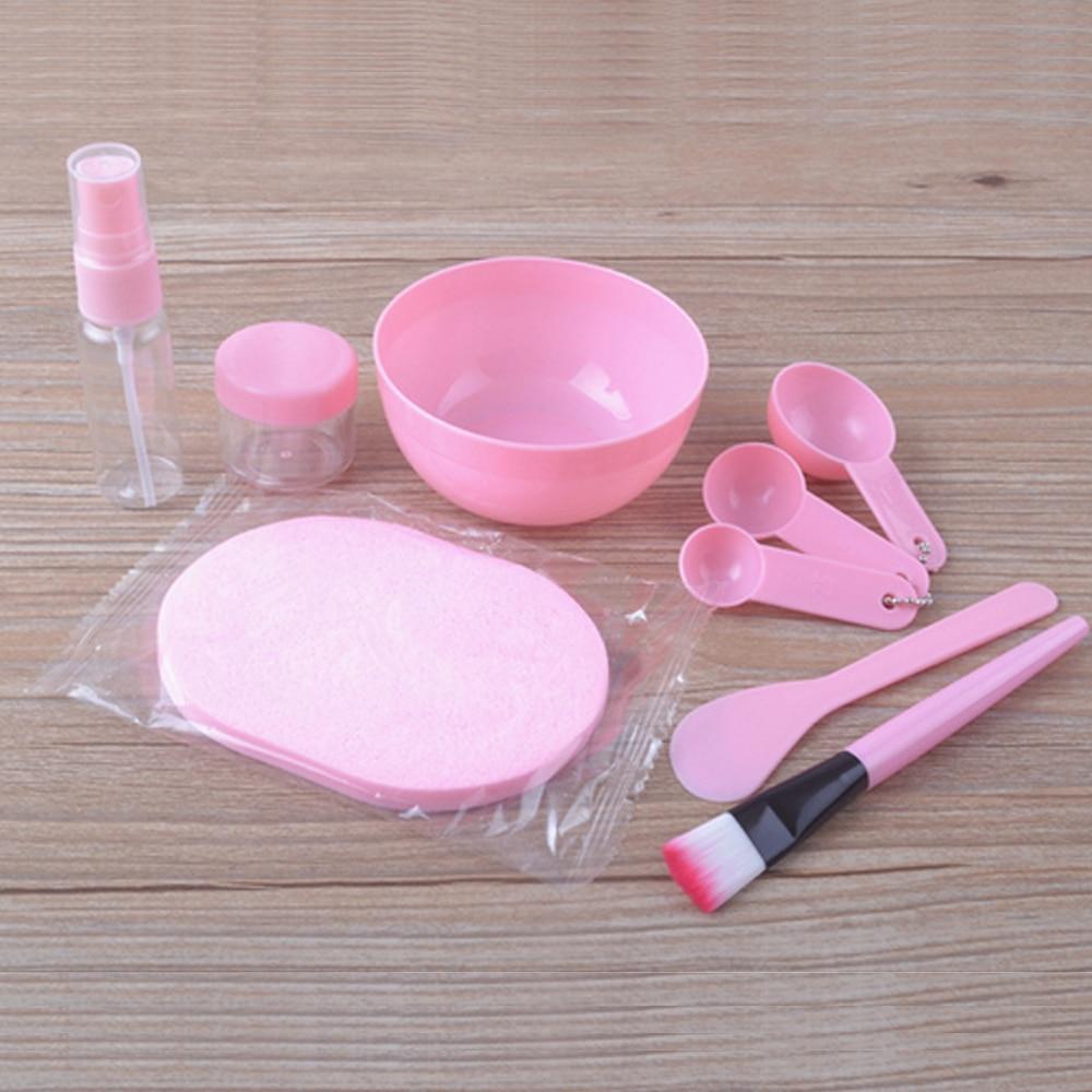 10pcs Face Mask Mixing Tools With 1pc Headband Lady Girls Face Care Tools Home DIY Facial Mask Making Tools Mask Mixing Bowl Set