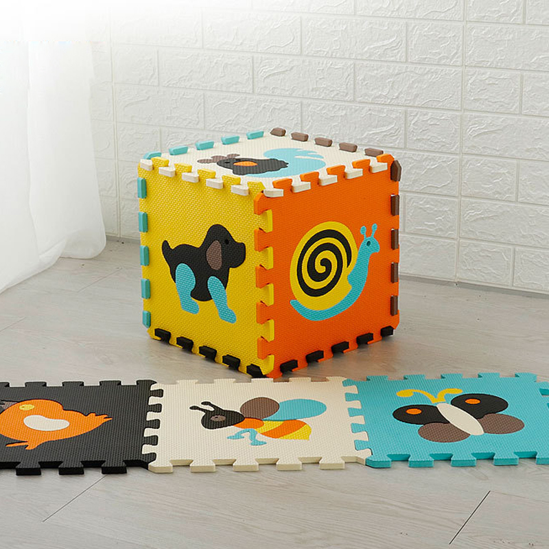 Baby Puzzle Jigsaw Floor Mats EVA Foam Play Mat with Fence Thick Carpet Pad Toys For Kids Educational Toys Activity Pad | Happy Baby Mama
