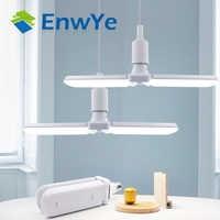 EnwYe 30W 45W 60W Led lámpara plegable CA 110V 220V Super brillante ángulo ajustable bombilla E27 luz LED