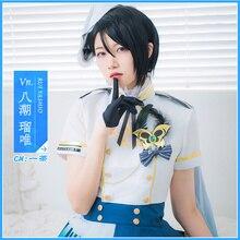 Bang Dream Yashio Rui Cosplay Costume Morfonica Anime Uniform Printing Dresses Christmas Halloween Free shipping CG711CZH
