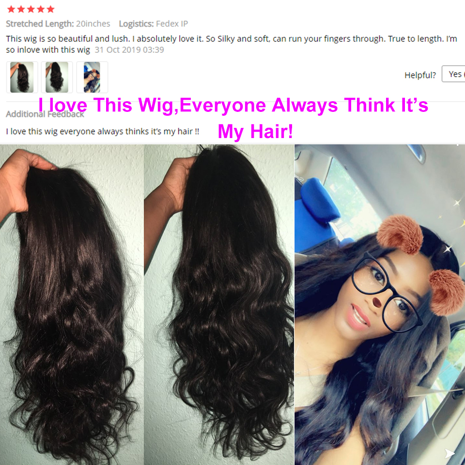 Body Wave13x4 Lace Front Human Hair Wigs High Ration Brazilian Remy Hair Pre-Pluck With Baby Hair150% Density 8-24 Inch Color1b