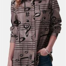 4XL 5XL big size women shirt print elegant ladies s